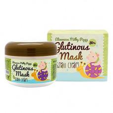 Elizavecca Milky piggy glutinous mask 80% snail cream, 100мл Крем маска ночная с муцином улитки