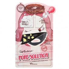 Elizavecca Pore solution super elastic mask, 25мл Трехшаговый набор для очищения и сужения пор